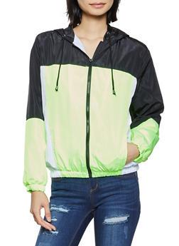 Color Block Windbreaker Jacket - 1086051061330