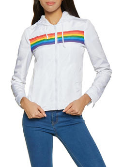 Rainbow Stripe Windbreaker - 1086051065231