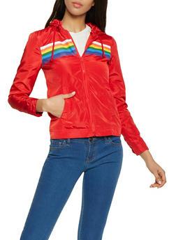 Rainbow Stripe Windbreaker - 1086051065231