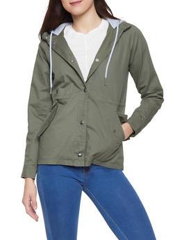 Fleece Hooded Anorak Jacket - 1086051066987