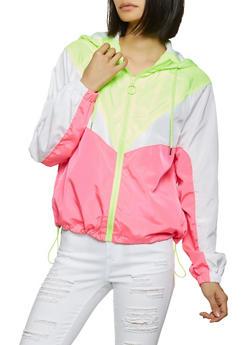 Hooded Windbreaker Jacket - 1086051067537