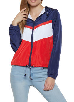 Color Blocked Windbreaker Jacket - 1086051067545
