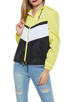 Color Blocked Windbreaker Jacket - 1086051067545
