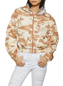 Camo Hooded Windbreaker Jacket - 1086051067687