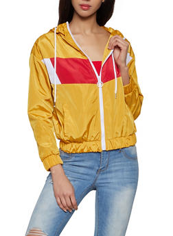 Color Block Windbreaker Jacket - 1086051067719