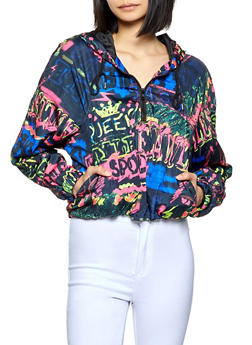 Hooded Tie Dye Pullover Windbreaker - 1086051068067