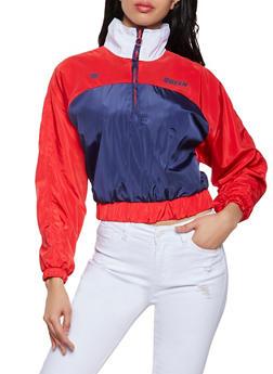 Queen Color Block Windbreaker Jacket - 1086051068070
