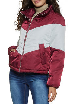 Chevron Puffer Jacket - 1086054261645