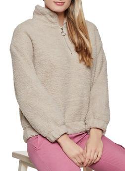 Half Zip Sherpa Sweatshirt - 1086054261825