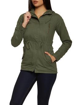 Hooded Twill Jacket - 1086054265431