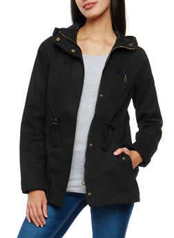 Hooded Zip Up Anorak Jacket - 1086054266554