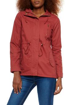 Hooded Zip Up Anorak Jacket - 1086054266554