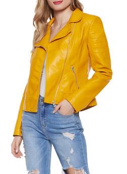 Asymmetrical Zip Faux Leather Moto Jacket | 1087051067900 - 1087051067900