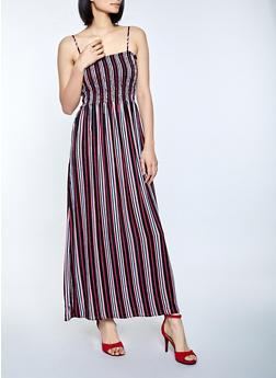 Multi Stripe Maxi Dress - 1090054261844