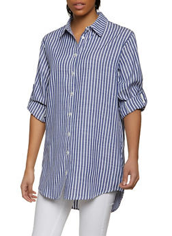 Striped Linen Shirt - 1090058750661