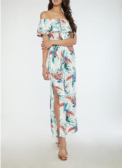 Floral Off the Shoulder Maxi Dress - 1090058753509
