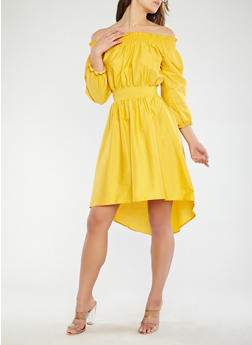 High Low Off the Shoulder Dress - 1090062128520