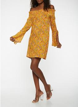 Floral Off the Shoulder Dress - 1090074011032