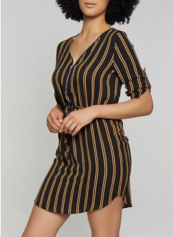2395063bdd025 Striped Crepe Knit Dress - 1090074281191