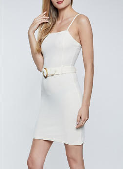 Belted Cami Dress - 1094015050102