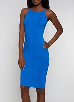 Solid Midi Cami Dress - 1094015050130