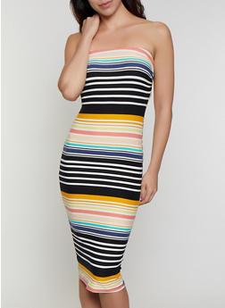 Printed Soft Knit Tube Dress - 1094015050135
