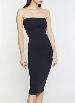 Solid Tube Dress - Black - Size S - 1094015050156