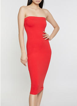 Solid Tube Dress - 1094015050156