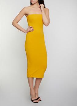 Solid Tube Dress - 1094015050156