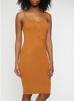 Solid Cami Bodycon Dress - 1094015050319