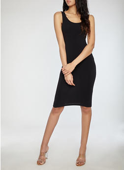 Solid Bodycon Tank Dress - 1094015050350