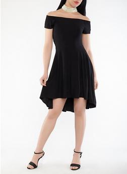 Off the Shoulder High Low Dress - 1094015050356