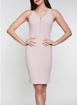 Half Zip Tank Dress - 1094034280367