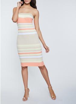 Striped Tube Dress - 1094034281838