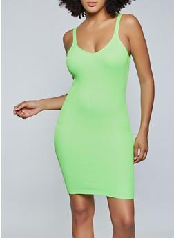 Ribbed Knit Cami Dress - 1094034283377