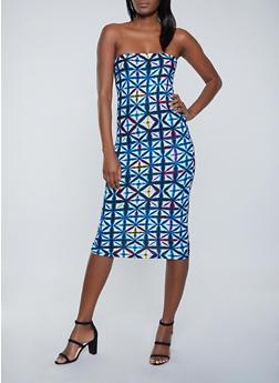 Geometric Tube Dress - 1094038340891