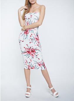 Floral Tube Dress - 1094038340895