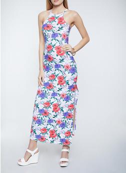 Floral Soft Knit Maxi Dress - 1094038340926
