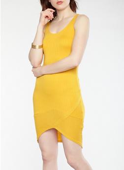 Rib Knit Double Strap Bodycon Dress - 1094038348712