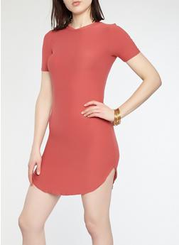 Basic Soft Knit T Shirt Dress - 1094038348804