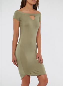 Soft Knit Off the Shoulder Dress - 1094038348808