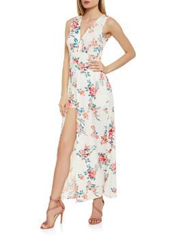 Floral Maxi Romper - 1094038348889
