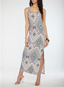 Aztec Print Maxi Dress - 1094038348909
