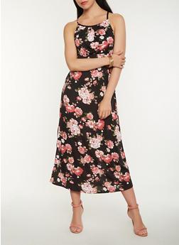 Floral Tank Maxi Dress - 1094038348996