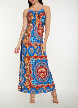 Printed Tank Maxi Dress - 1094038348998