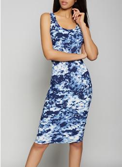 Tie Dye Tank Dress - 1094038349040