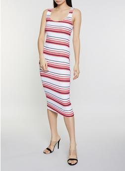 Striped Tank Dress - 1094038349046