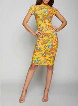 Floral Bodycon Dress - 1094038349050
