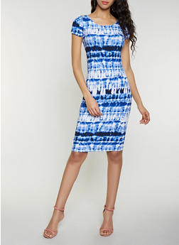 Tie Dye Bodycon Dress - 1094038349060