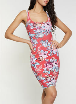 Floral Tank Dress - 1094038349086